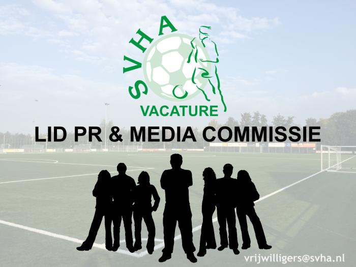 vacature lid pr & media commissie