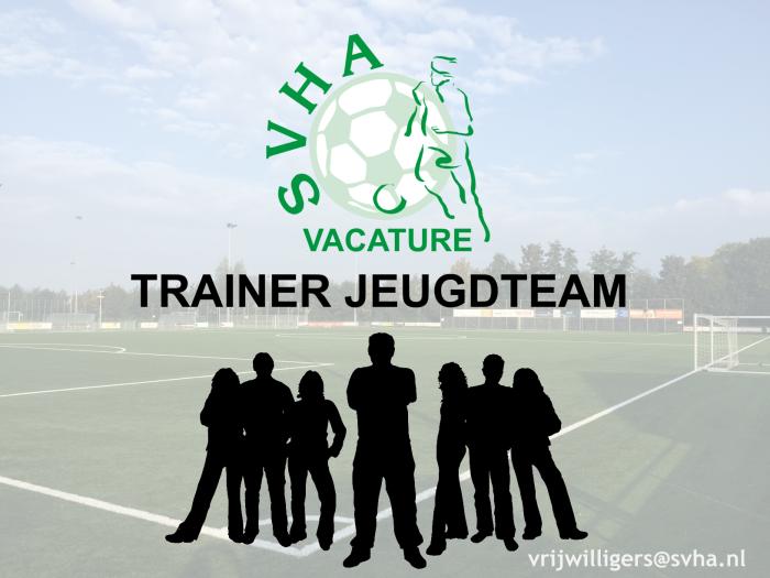vacature trainer jeugdteam